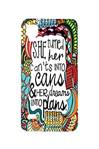 Letz Dezine She Printed Design Mobile Back Case Cover for Reliance Jio Lyf Flame 3
