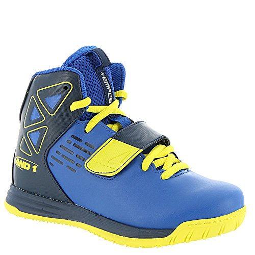 AND 1 Kids' Tempest Boys AU Skate Shoe, Royal/Peacoat/Blazing Yellow, 2 M US Little Kid