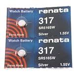 Renata 317 Watch Battery, 2 PCS