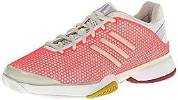 Adidas women\'s Stella Barricade 8-Poppy Pink/Soft Powder/Red Zest (7.5)