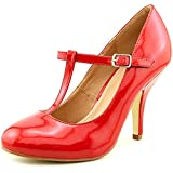 Brinley Co Women s Nelson 03 Dress Pump Regular Wide Sizes Red Patent PU 8 B(M) US