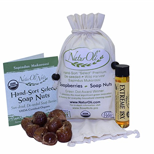Naturoli Soap Nuts / Soap Berries - Sale! - 1/4-Lb Usda Organic + 18X Bonus! Select Seedless, Wash Bag, 8Pg Info, Tote Bag. Organic Laundry Soap / Natural Cleaner!