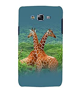 printtech Nature Animal Jungle Giraffe Back Case Cover for Samsung Galaxy A8::Samsung Galaxy A8 A800F