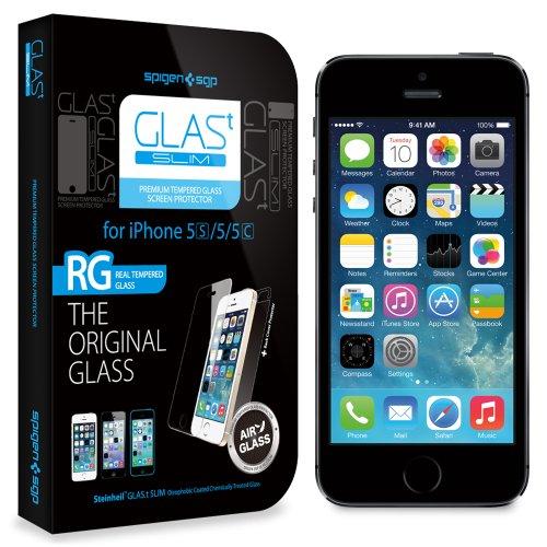 国内正規品SPIGEN SGP iPhone5/5S/5C シュタインハイル GLAS.t スリム リアル スクリーン プロテクター(背面保護フィルム同梱)SGP10112
