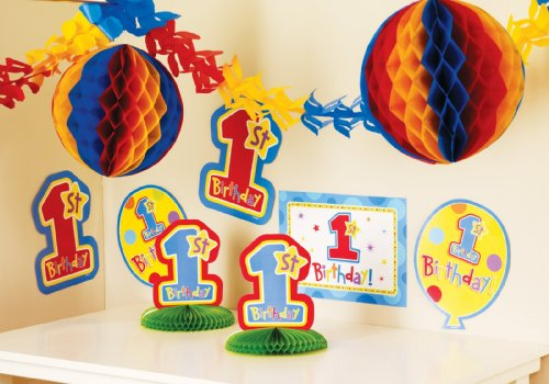 Amscan 160422 Primary First Birthday Decorating Set