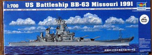 Trumpeter 1/700 Scale USS Missouri BB-63 1991