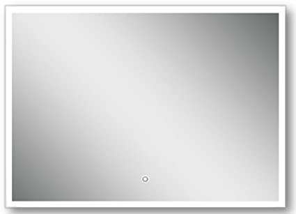 "OVE Saros LED Lighted Mirror with Touch Sensor, 39"" x 28"""