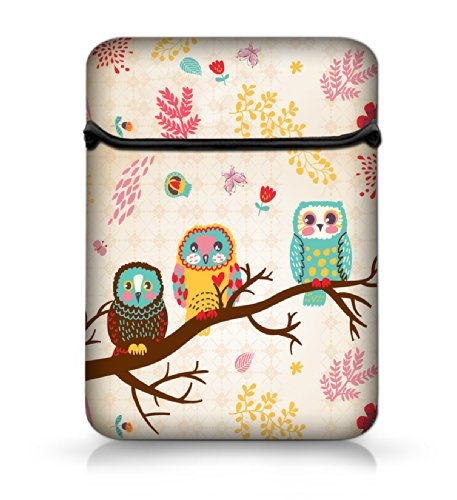 """New Arrival Cute Owls 12"""" Laptop Sleeve Case Netbook Flip Bag Pouch Cover For 11.6"""" Apple Macbook Air,Acer Aspire S7/Samsung Google 11.6"""" Chromebook Pc,Dell Inspiron 11Z 1110,12.1"""" Apple Ibook Pc,Dell Latitude E6230 Xt2 Xps Duo,Lenovo Ideapad,Asus Taichi2"""