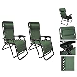 Outdoor Patio Light Weight Lounge Chair Green-Pair
