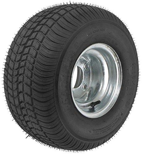 2-Pack Trailer Tires On Galvanized Rims 480-8 4.80-8 4.80 x 8 Load C 4 Lug