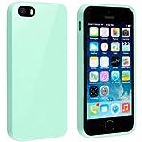 Bingsale TPU Jelly snap on Gel Soft Hülle Case Tasche schutzhülle für Apple Iphone 5S 5 (Iphone 5S, turquoise)