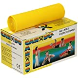 CanDo Twin-Pak Latex-Free Exercise Band, Yellow, 100 Yard