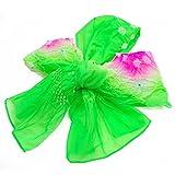 (キョウエツ) KYOETSU ガールズ兵児帯 女の子 浴衣帯 ぼかし 絞り (緑×ピンク)