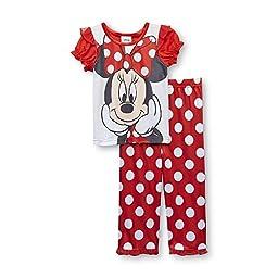 Minnie Mouse Polka Dot Toddler Girl\'s Pajama Shirt & Pants (4T)