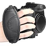 Insten Leather Hand Grip Strap Compatible with Nikon D5000 D5100 D7000 D90