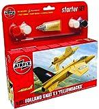 Airfix 1:72 Folland Gnat Yellow Jacks Small Starter Aircraft Model Set