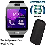 Huawei Y511 Compatible Ceritfied High Quality Touch Screen Bluetooth Smart Watch with SIM Card Slot And NFC Cell Phone Watch Phone Remote Camera(Assorted Color) with FREE GIFT