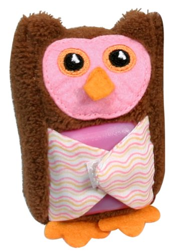 Stephan Baby Boo-Hoo Owl Comfort Toy and Boo Cube, Pink