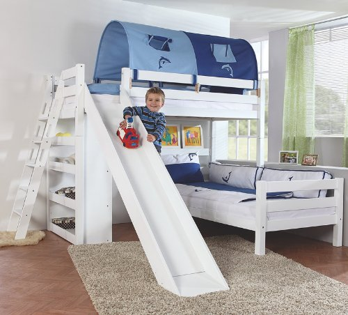 Etagenbett Set »4 DREAMS« in Buche massiv weiß lackiert kaufen