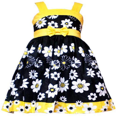 Rare editions babyinfant 3m 9m black yellow white floral print bow rare editions babyinfant 3m 9m black yellow white floral print bow front special occasion flower girl party dress mightylinksfo