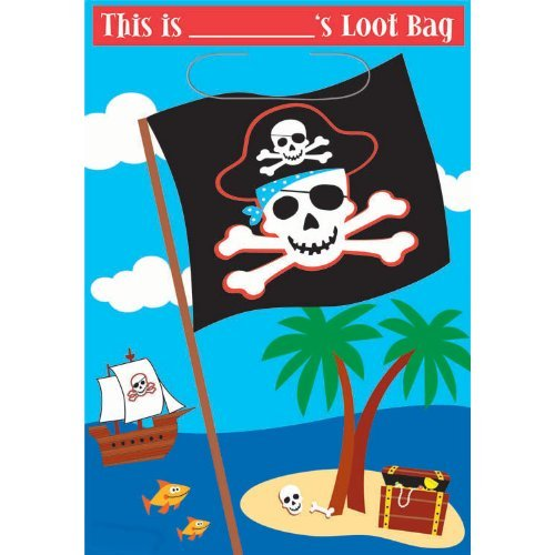 Pirate Treasure Loot Bag(Includes 8 Party Favor Bags)