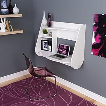 Prepac Kurv Floating Desk, White