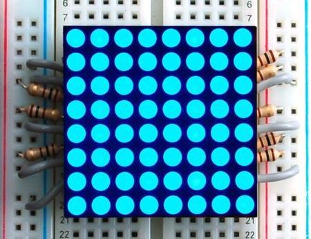 """1.2"""" 8X8 Blue Led Matrix"""