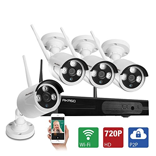 AKASO-WS1M-401-4CH-720P-HD-WIFI-Security-Camera-System-Wireless-Video-Surveillance-Netwotk-NVR-Kits-CCTV-IP-Camera-Equipment-with-1280720P-Cameras-System-Night-Vision-Without-HDD