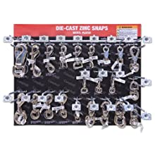 "Campbell DD0720170 67 Piece 15"" x 18.25"" Die Cast Zinc Snaps Display Assortment"