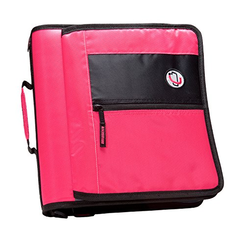 case-it-2-inch-round-ring-zipper-binder-with-velcro-messenger-front-neon-pink-m-276-neopnk