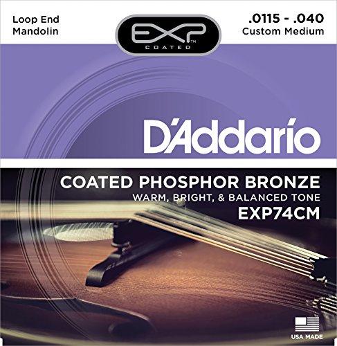 D'Addario EXP74CM Coated Phosphor Bronze Mandolin Strings, Custom Medium, 11.5-40 (D Addario Exp compare prices)