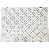 De Buyer 4935.40 Tapis Siliconé Fin spécial Macarons - 44 repères - 40 x 30 cm