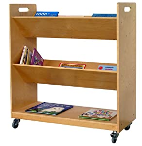 V Shaped Book Trolley