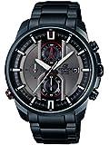 Casio Herren-Armbanduhr XL Edifice Analog Quarz Edelstahl EFR-533BK-8AVUEF