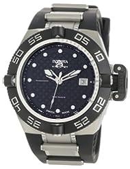 Invicta Men's 0521 Subaqua Noma IV Collection Automatic Midsize Black Polyurethane Watch