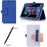 Procase Hp Stream 8 Case - Folio Stand Cover Case Exclusive For Hp Stream 8 Tablet (5901), With Hand Strap, Bonus Procase Stylus Pen (Navy Blue)
