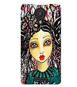 Fuson Colorful Pattern Girl Back Case Cover for XIAOMI REDMI NOTE 2 - D3861