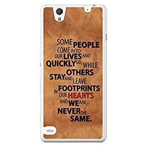 a AND b Designer Printed Mobile Back Cover / Back Case For Sony Xperia C4 (SONY_C4_1016)