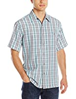 Haggar Men's Short-Sleeve Button-Front Shirt