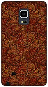 The Racoon Grip hand doodle flow red hard plastic printed back case / cover for Samsung Galaxy Note Edge