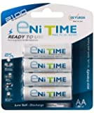 GS Yuasa eNiTIME 4 Pack AA Ni-MH Rechargeable Batteries
