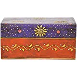 Rajasthani Colors Of Handicrafts Wood Hand Painted Rectangular Jewellery Box - (15.24 Cm X 10.16 Cm X 6.985 Cm... - B014KVH80Y
