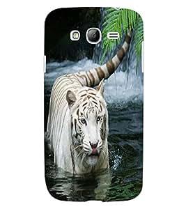 ColourCraft White Tiger Design Back Case Cover for SAMSUNG GALAXY GRAND NEO I9060