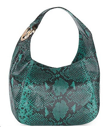 MICHAEL Michael Kors Fulton Shoulder Bag Handbag Python Medium AQUA 30S01FTL2E