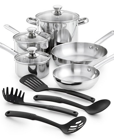 Tools of the Trade Classic Cookware, 12 Piece Set (4 1 2 Quart Stock Pot compare prices)