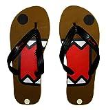 Domo Kun Face Japan Cartoon Flip Flops Sandals XL