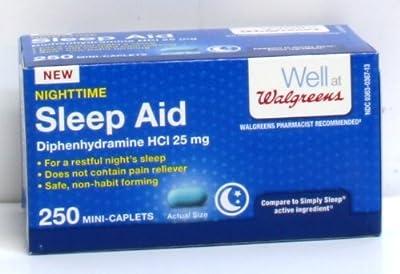 Walgreens Nighttime Sleep Aid Mini-Caplets Box Of 250