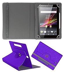 Acm Designer Rotating Case For Epro Etab-705 Stand Cover Purple