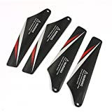 4pcs Black Plastic Main Blade A B for RC Syma S107C Helicopter