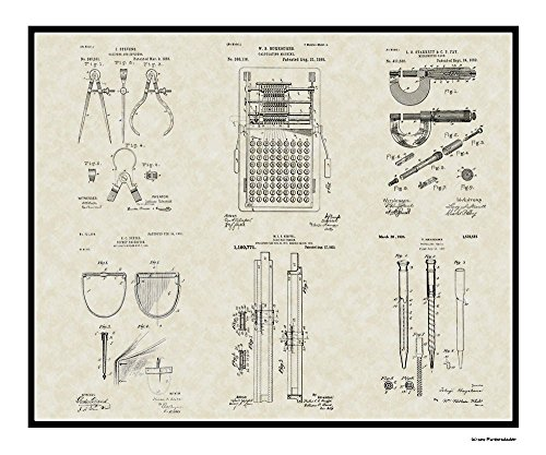 Patent Art Poster - Engineering Tools - Engineer Manufacturing Print Gift 20x24 (Engineer Wall Art compare prices)